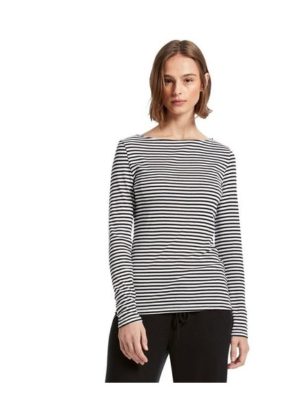 Michael Stars Kailee Striped Boat Neck Tee