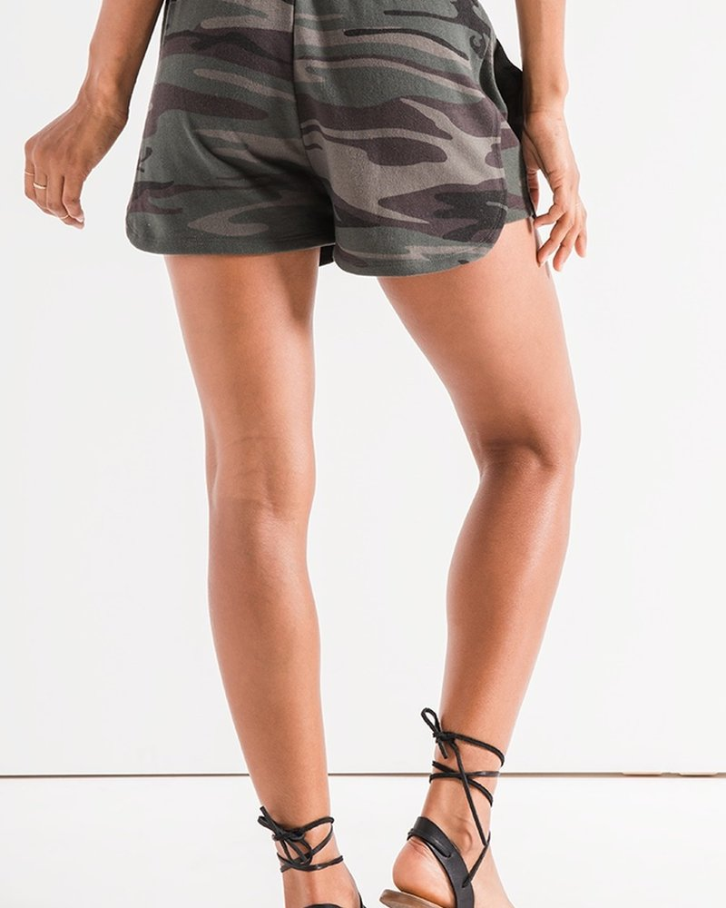 Z Supply The Camo Knit Runner Shorts