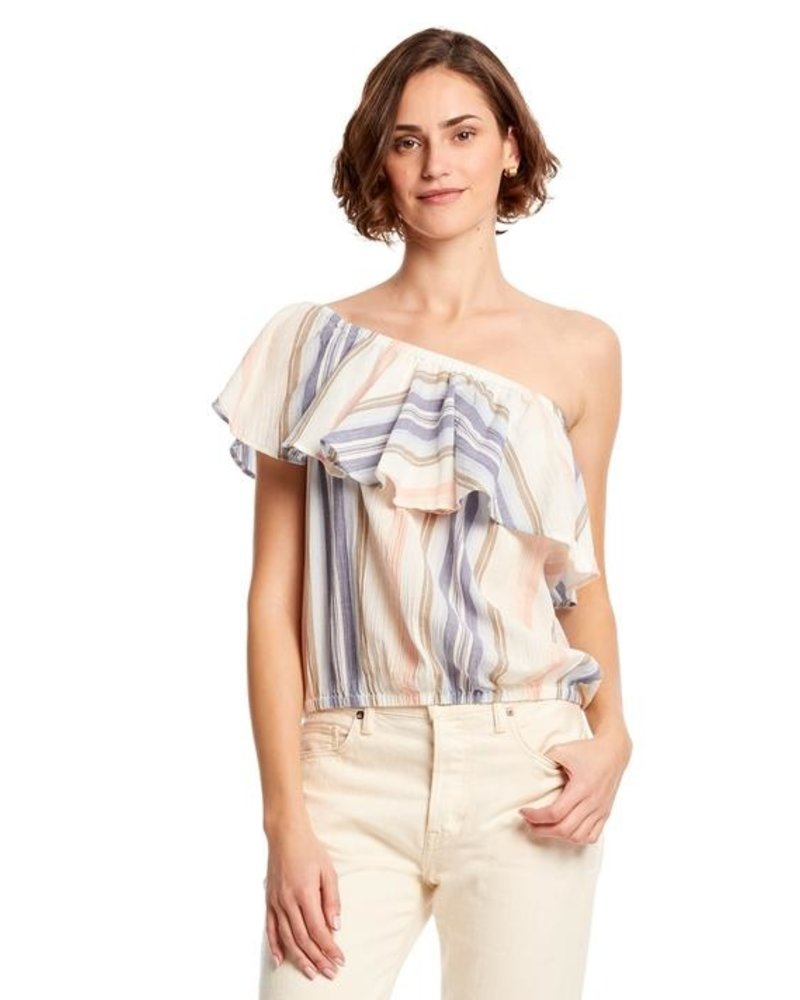 Michael Stars Jordy Multi-Wear Flounce Top