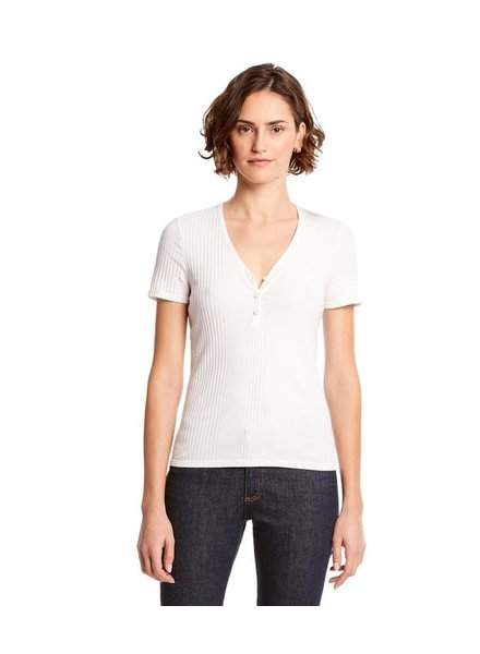 Michael Stars Mary V Neck Henley