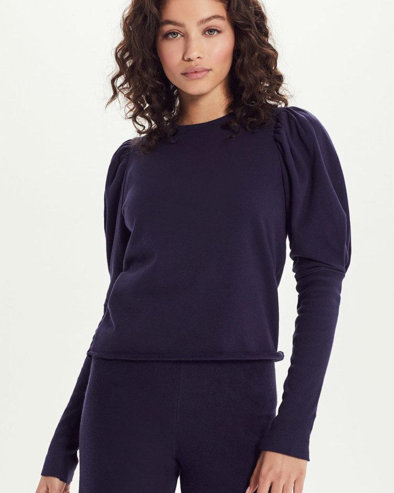 French Terry Puff Sleeve Sweatshirt