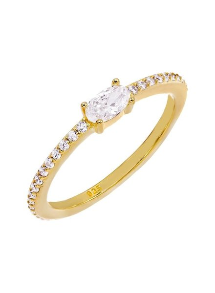 Adina Jewels Oval Stone Ring