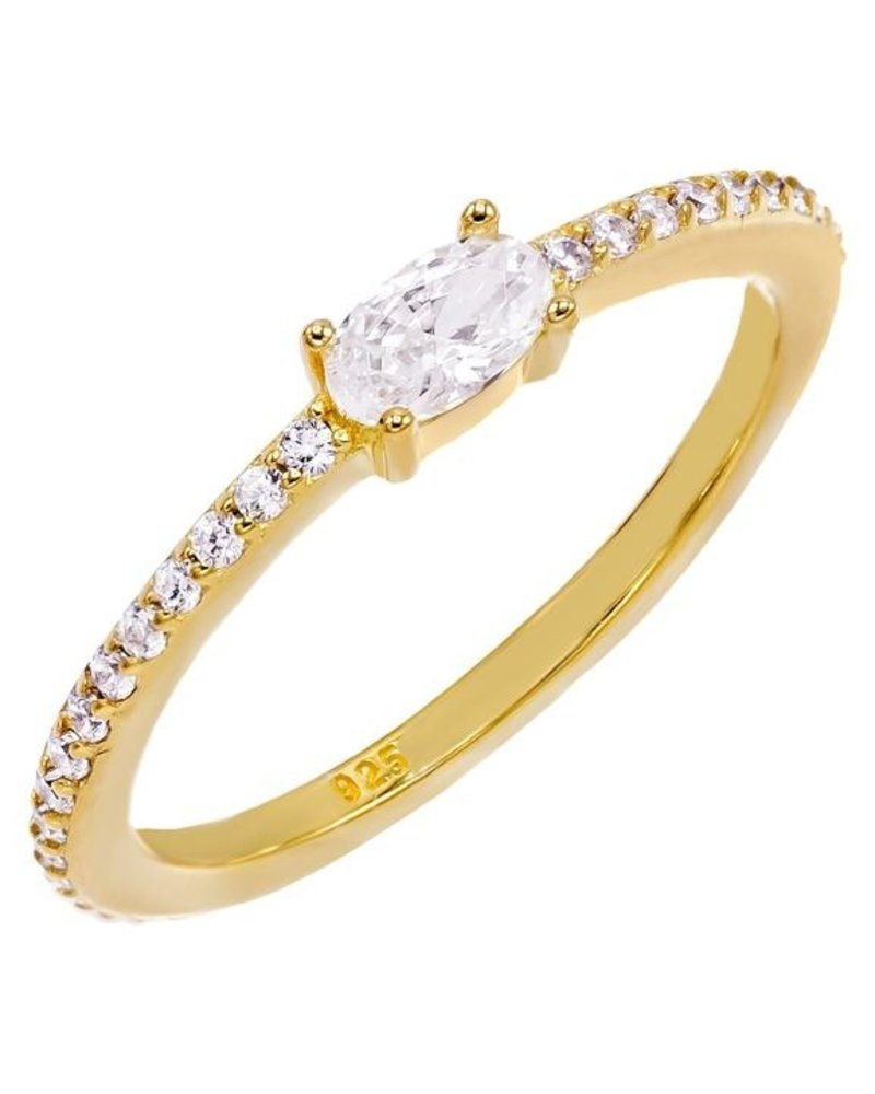 Adina Jewels Oval Stone Ring