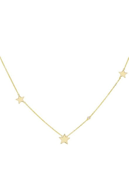 Adina Jewels Triple Star Necklace