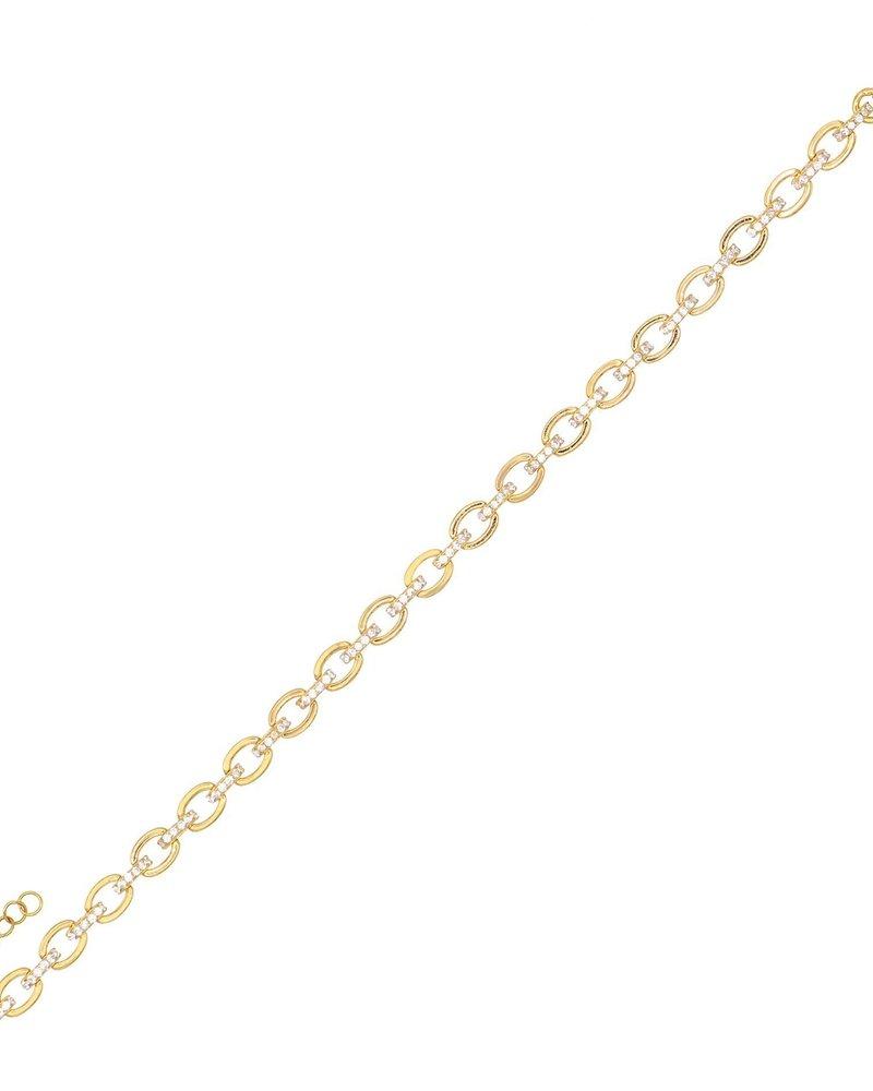 Adina Jewels Pave Link Bracelet