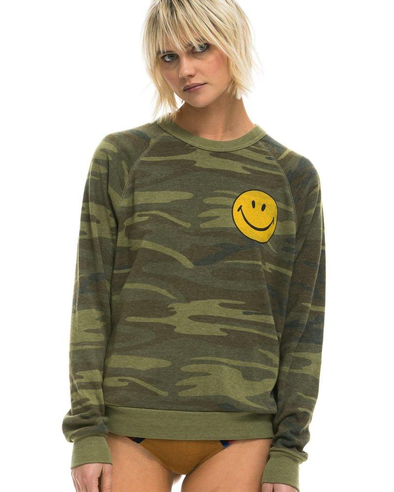 Aviator Nation  Small Smiley - Crew Sweatshirt