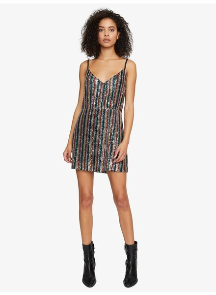 Sanctuary Rainbow Prism Wrap Mini Dress