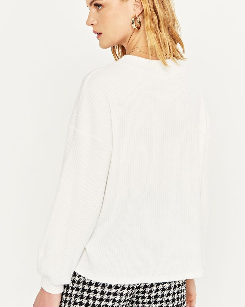 PROJECT SOCIAL T Sutton Cozy Ribbed Puff Sleeve