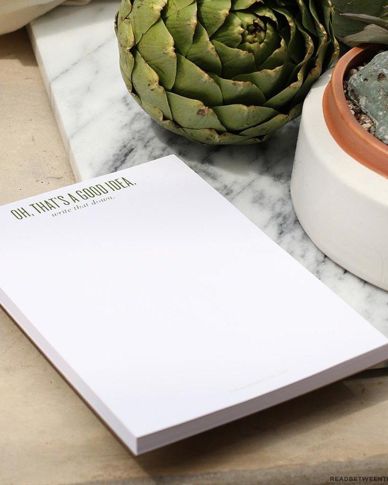 Read between the lines Good Idea Notepad