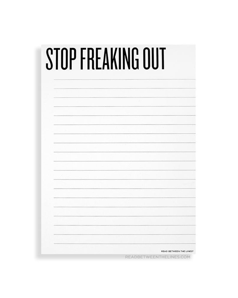 Read between the lines Freaking Out Notepad
