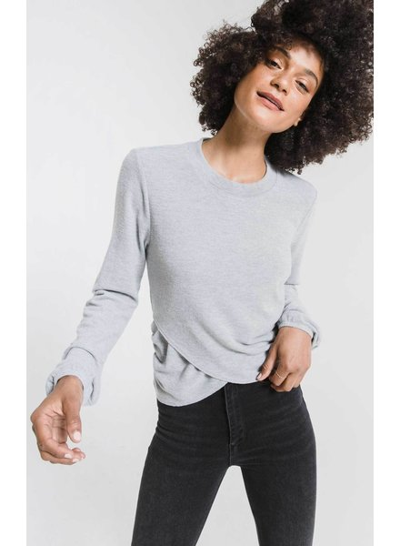 Z Supply Soft Spun Ruched Long Sleeve Top