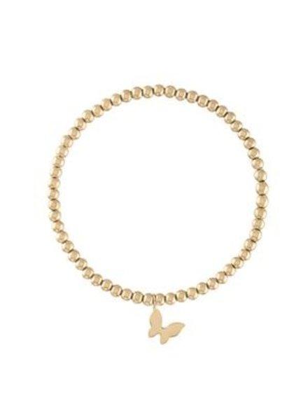 Alexa Leigh Butterfly Gold Ball Bracelet