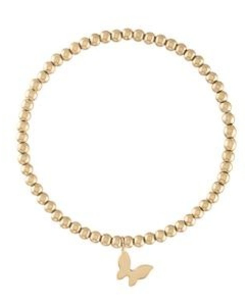 Alexa Leigh  Butterfly Gold Ball Bracelet
