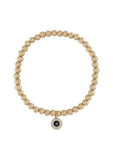 Alexa Leigh Evil Eye Protection Gold Ball Bracelet