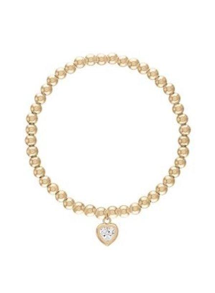 Alexa Leigh 4mm All my Heart Gold Ball bracelet