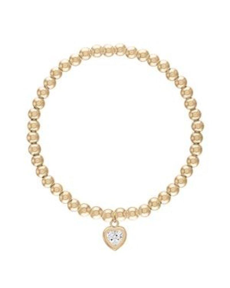 Alexa Leigh Alexa Leigh 4MM All My Heart Gold Ball Bracelet