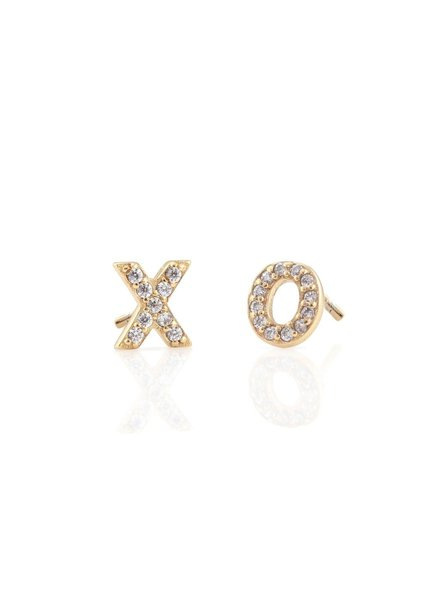 Kris Nations XO Pave Stud Earrings