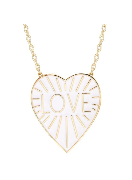 Kris Nations Love Heart Pendant on Chain