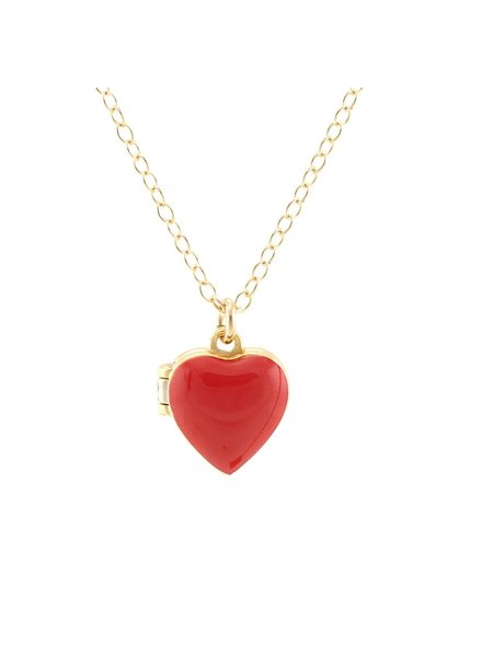Kris Nations Heart Locket in Enamel
