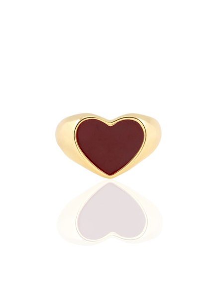 Kris Nations Heart Enamel Signet Ring