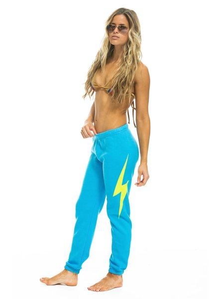 Aviator Nation Bolt Neon Blue Sweatpant