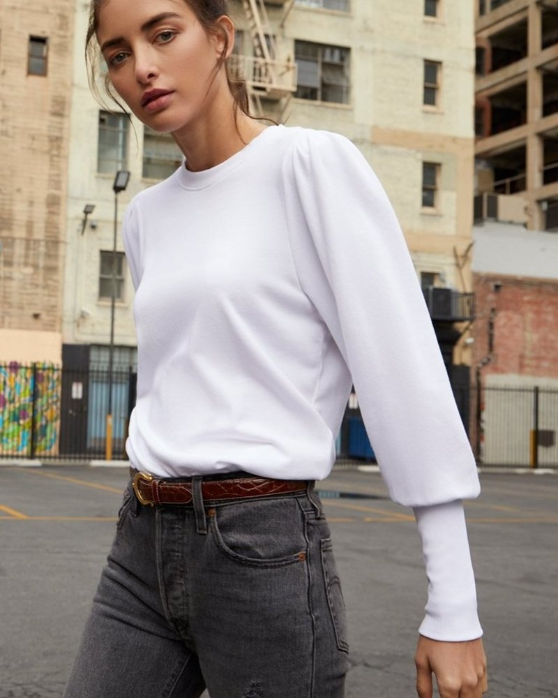 NATION  Bethany Puff Sleeve Sweatshirt