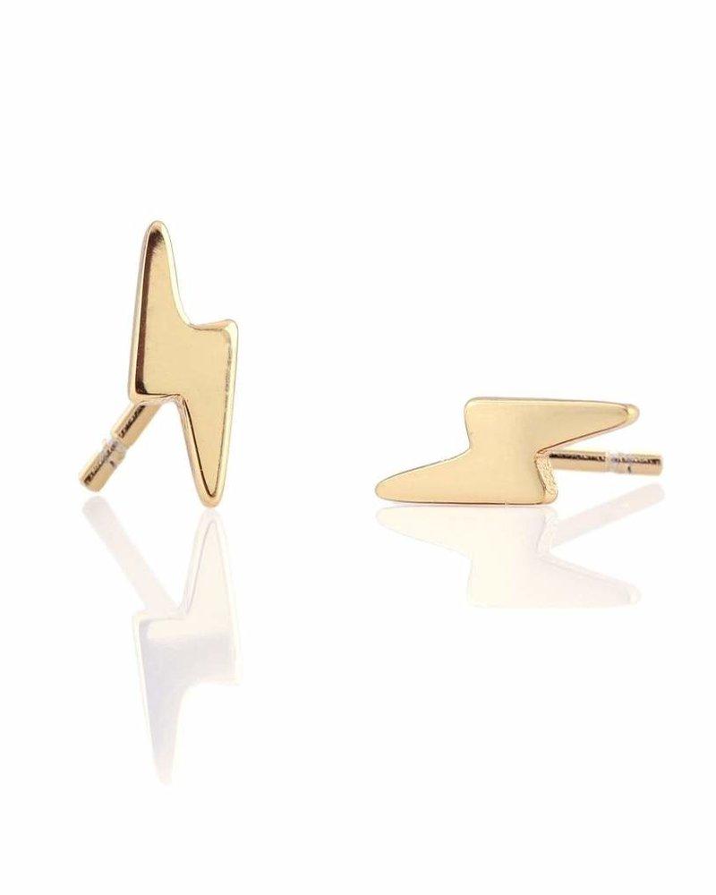 Kris Nations Lightening Bolt Stud Earrings