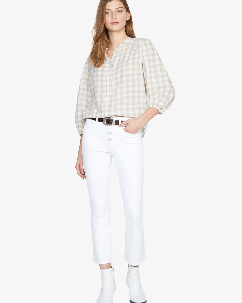 Sanctuary Evelyn Blouson Blouse Neutral Nation Check
