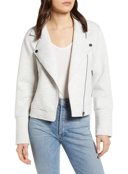 Cupcakes and Cashmere Anabelle Knit Moto Jacket