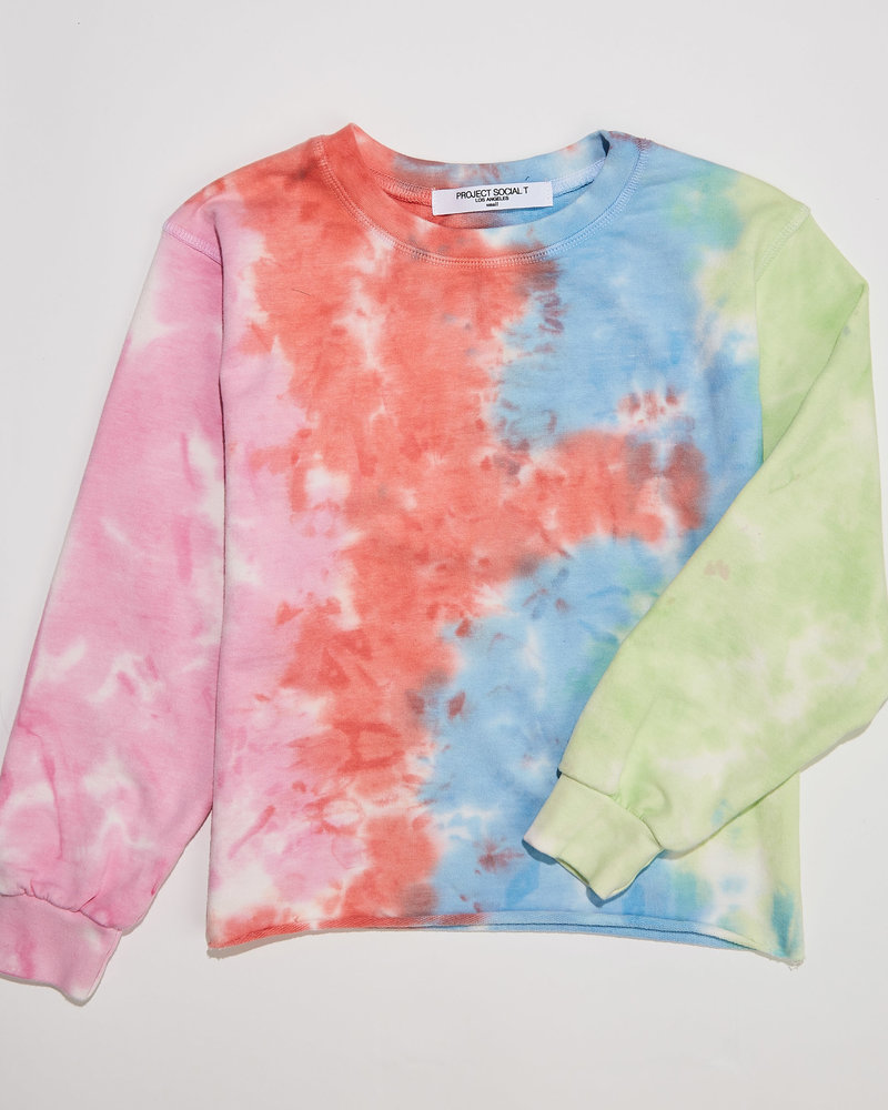 PROJECT SOCIAL T Kids Tie Dye Sweatshirt