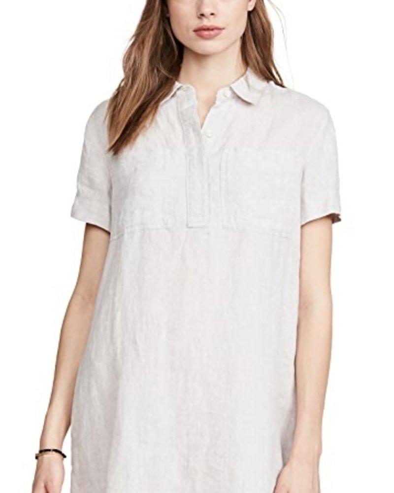 Linen Pocket Shirt Dress