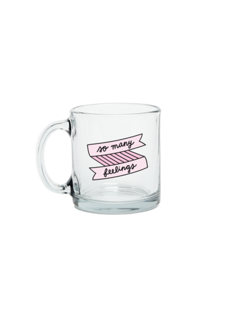 Talking out of Turn Talking out of Turn So Many Feelings Glass Mug