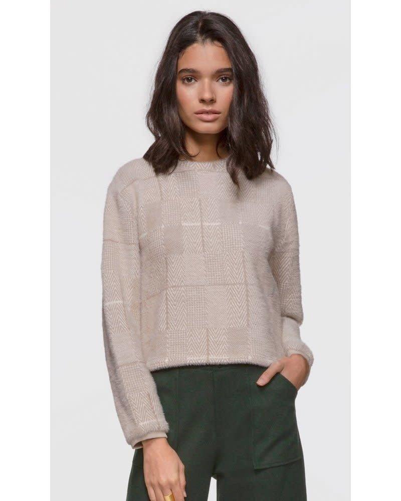 Greylin Greylin Mallory Herringbone Soft Knit Fuzzy Sweater