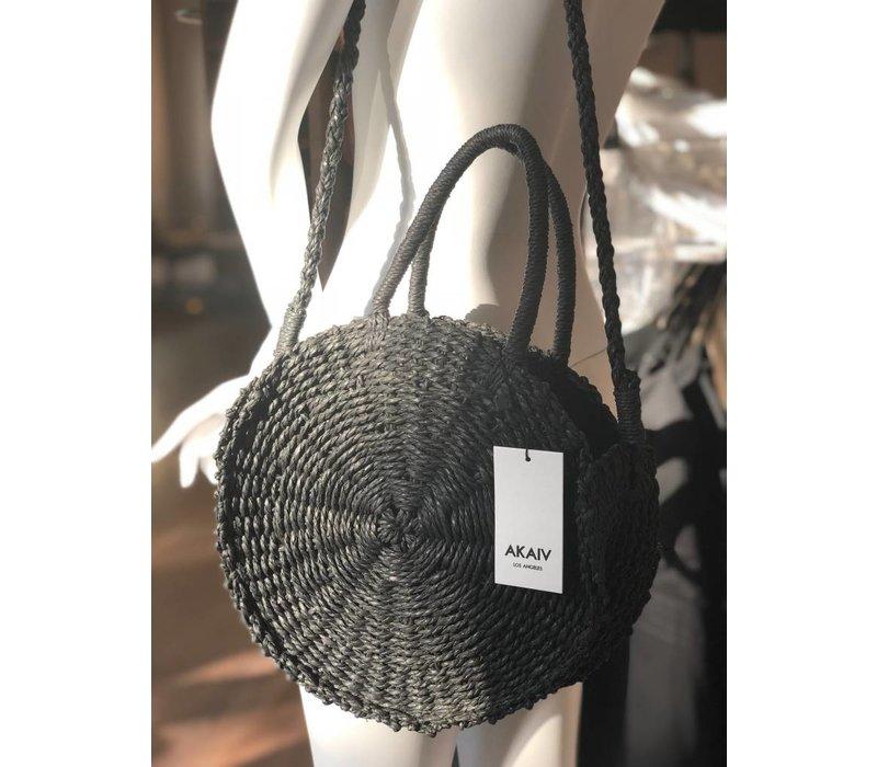 Circle Cross Body Straw Bag