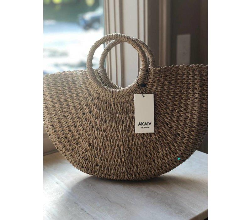 Crescent Straw Bag