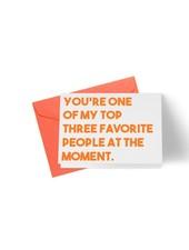 B Designs Top 3 Favorite People Card