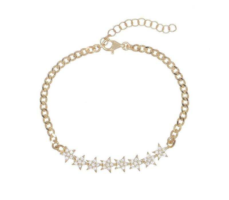 Stars Cuban Chain Bracelet