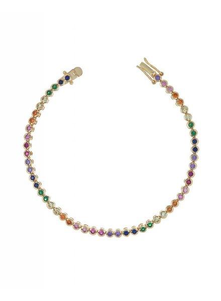 Adina Jewels Rainbow Tennis Bracelet