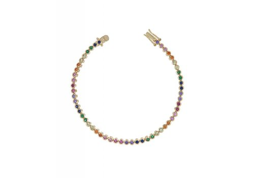 Adina Jewels Rainbow Tennis Bracelet