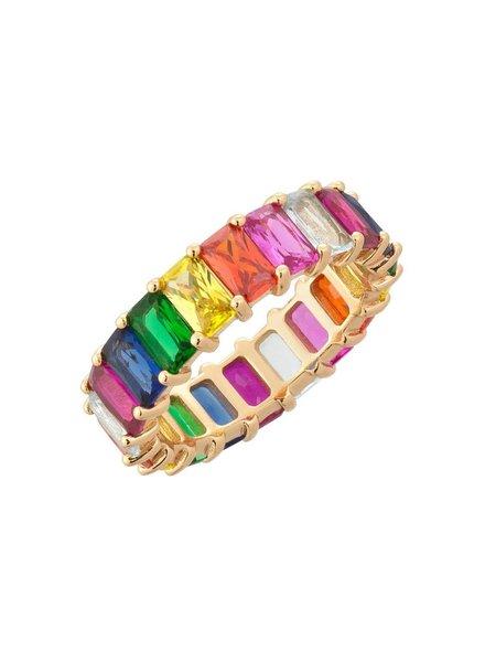 Adina Jewels Rainbow Ring (Mult)