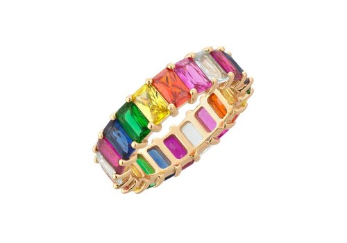 Adina Jewels Rainbow Ring (Mult)