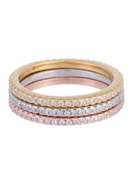 Adina Jewels Trio Band Rings