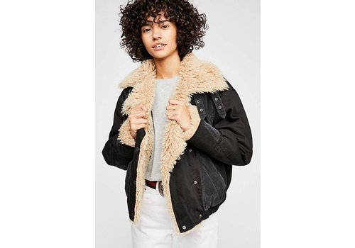 Free People Owens Sherpa Denim Jacket