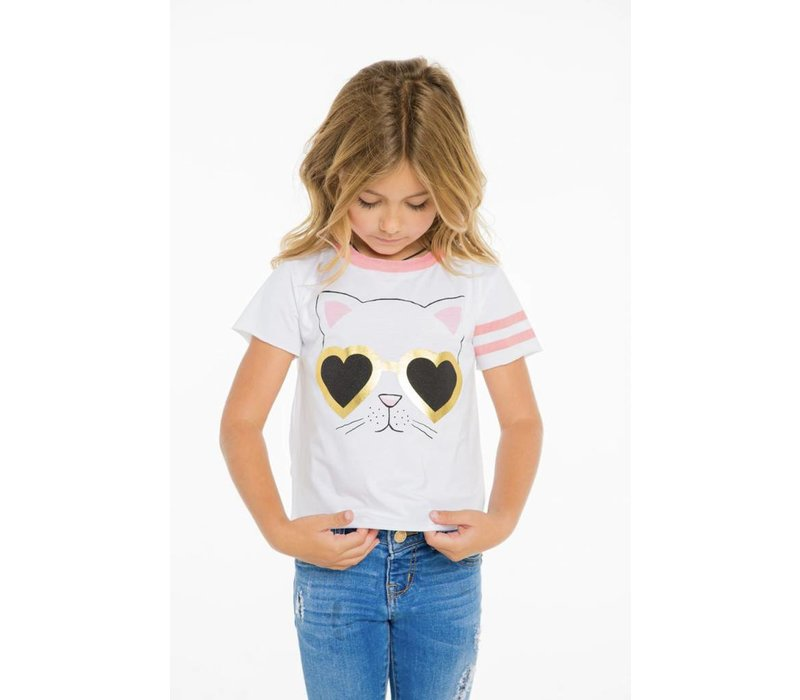 Girls Cat Sunnies Tee