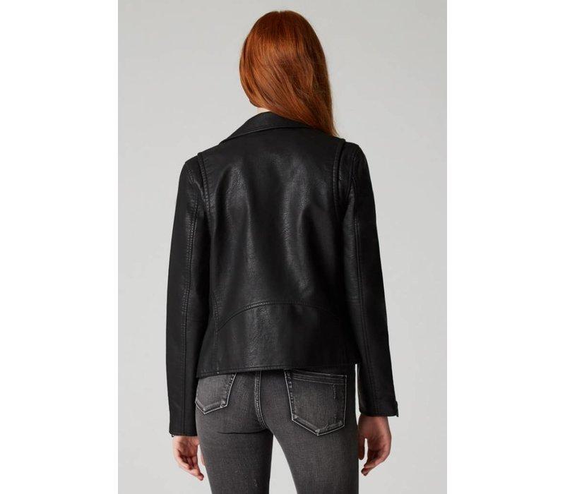 Onyx Faux  Jacket