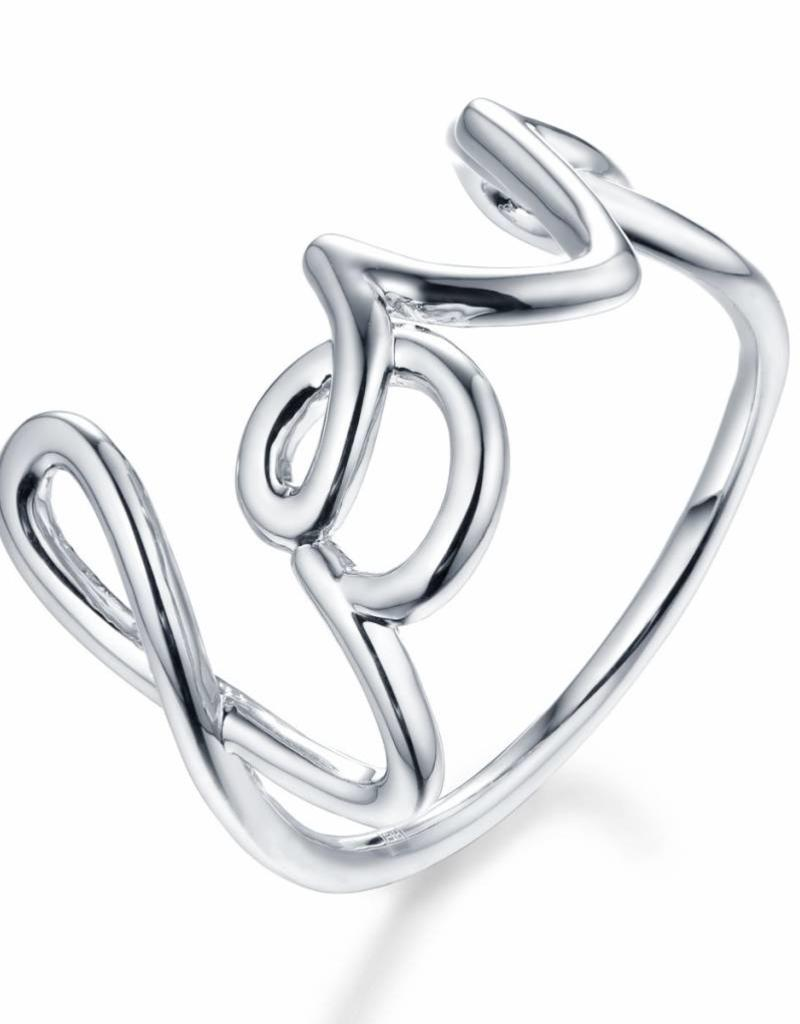 F+H JEWELLERY F+H LOVE SCRIPT RING