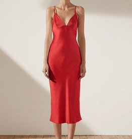 SHONA JOY SHONA JOY BIAS SLIP MIDI DRESS ADONIS