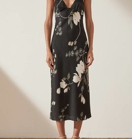 SHONA JOY SHONA JOY BIAS SLIP MIDI DRESS RYLANT
