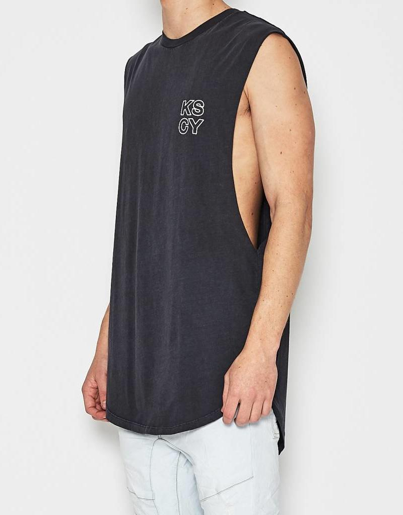 KISSCHACEY KISS CHACEY TEAM CURVED HEM MUSCLE TEE