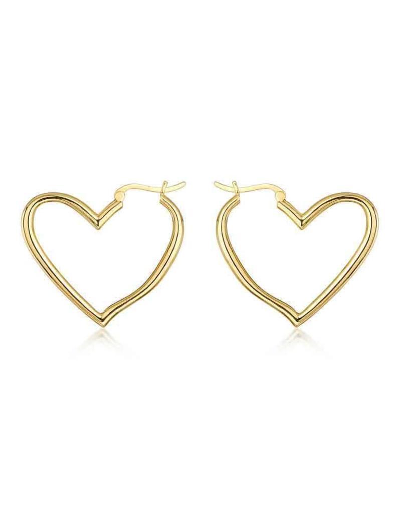 F+H JEWELLERY F+H MY LOVE HEART HOOP EARRING